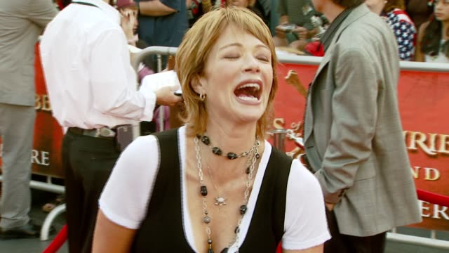 lauren holly at the 'pirates of the caribbean at world's end' world premiere at disneyland in anaheim california on may 19 2007 - lauren holly stock videos and b-roll footage