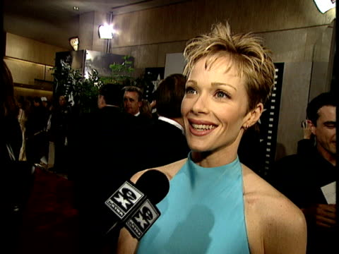 lauren holly talks about clint eastwood - lauren holly stock videos and b-roll footage