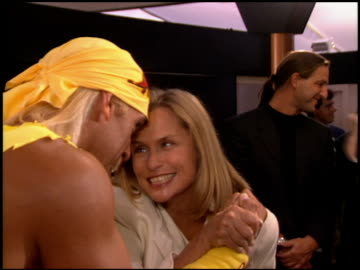 stockvideo's en b-roll-footage met lauren hutton at the natpe convention on january 25, 1995. - natpe convention