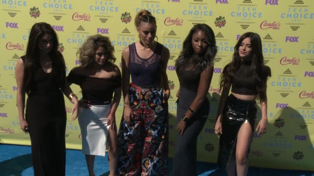 Lauren Jauregui Ally Brooke Hernandez Normani Kordei Dinah Jane Hansen and Camila Cabello of Fifth Harmony at the Teen Choice Awards 2015 at USC...