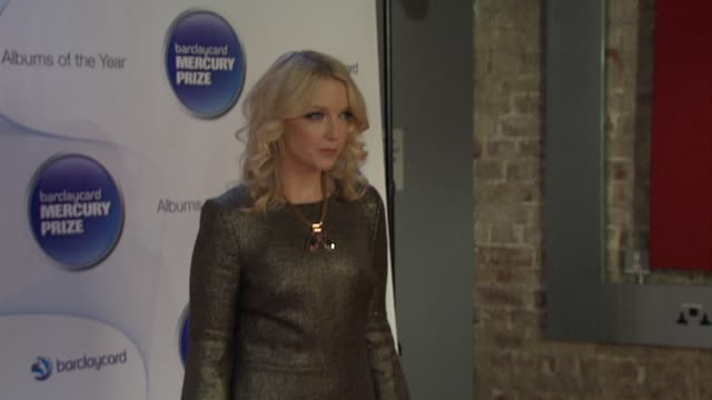 lauren laverne at barclaycard mercury music prize 2012 at the roundhouse on november 01, 2012 in london, england - mercury music prize stock-videos und b-roll-filmmaterial