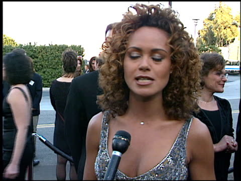 lauren martin-harkins at the soap opera digest awards entrances at universal studios in universal city, california on february 26, 1999. - soap opera stock videos & royalty-free footage