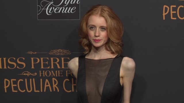 Lauren McCrostie at Miss Peregrine's Home For Peculiar Children New York Premiere at Saks Fifth Avenue on September 26 2016 in New York City