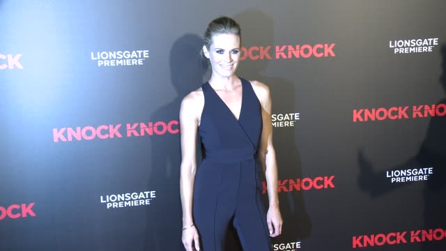 "stockvideo's en b-roll-footage met lauren shaw at the ""knock knock"" los angeles premiere at tcl chinese theatre on october 07, 2015 in hollywood, california. - tcl chinese theatre"