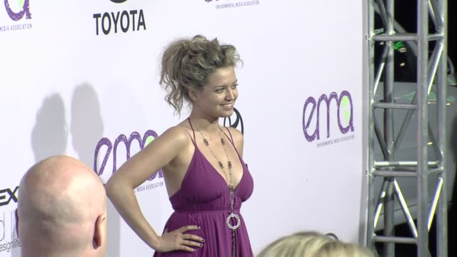lauren storm at the the 18th annual environmental media awards benefiting the environment at los angeles ca - environmental media awards stock videos & royalty-free footage