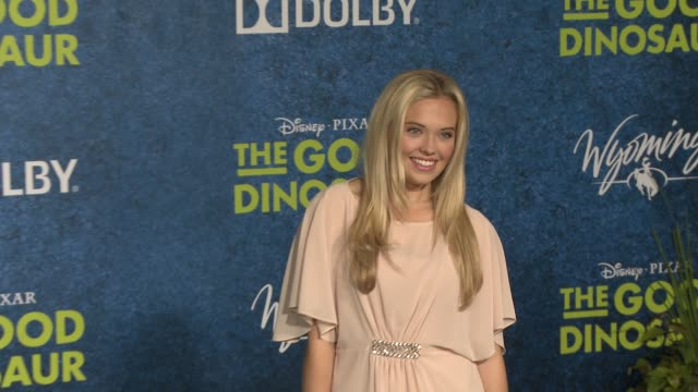 lauren taylor at the good dinosaur world premiere at the el capitan theatre on november 17 2015 in hollywood california - el capitan theatre stock videos and b-roll footage