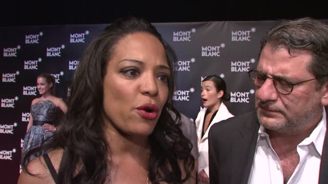 lauren velez and jeff lindsay on why they came out tonight and being john lennon fans on john lennon's legacy joke that dexter should listen to... - john lennon stock videos and b-roll footage