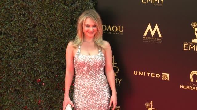 Lauren Woodland at the 2018 Daytime Emmy Awards at Pasadena Civic Auditorium on April 29 2018 in Pasadena California