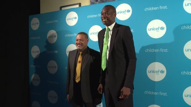 Laurence Fishburne and Dikembe Mutombo at UNICEF's Evening For Children First In Atlanta on March 17 2017 in Atlanta Georgia