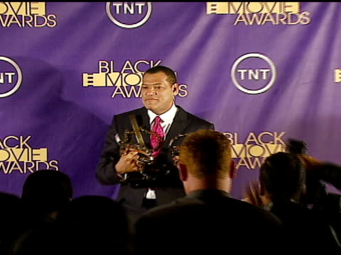 laurence fishburne at the 2006 tnt black movie awards press room at wiltern theater in los angeles california on october 15 2006 - wiltern theater stock videos and b-roll footage