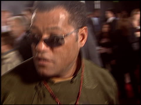 Laurence Fishburne at the 'Matrix Revolutions' Premiere at Walt Disney Concert Hall in Los Angeles California on October 27 2003