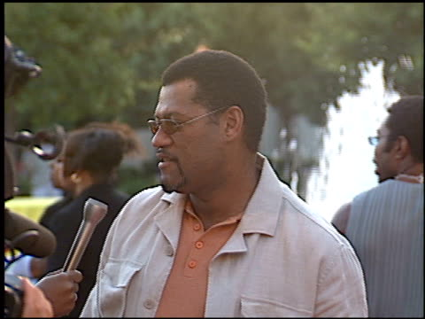 Laurence Fishburne at the Premiere of 'The Original Kings of Comedy' at Paramount Studios in Hollywood California on August 10 2000