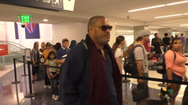 Laurence Fishburne departing at LAX Airport in Los Angeles in Celebrity Sightings in Los Angeles