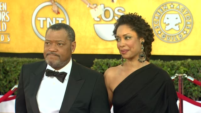 Laurence Fishburne Gina Torres at 18th Annual Screen Actors Guild Awards Arrivals on 1/29/12 in Los Angeles CA