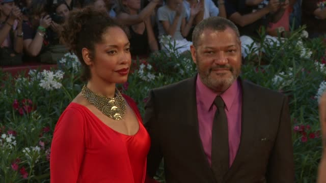Laurence Fishburne Gina Torres at the Contagion Premiere Venice Film Festival 2011 at Venice