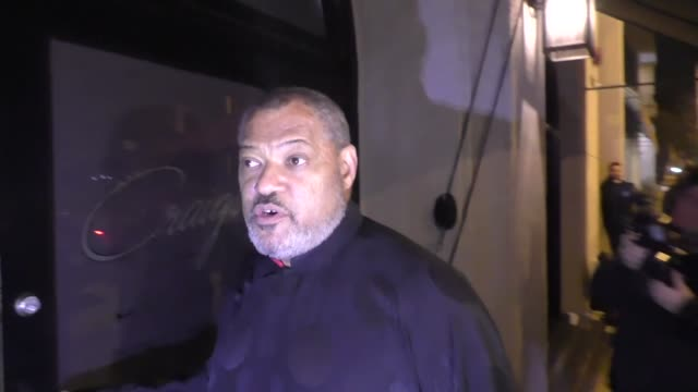 INTERVIEW Laurence Fishburne talks about Oprah Winfrey for President outside Craig's Restaurant in West Hollywood in Celebrity Sightings in Los...