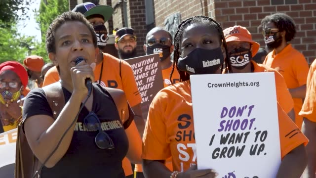 laurie angela cumbo - councilmember for the 35th district, which includes the brooklyn neighborhoods. the death of george floyd has sparked worldwide... - gun control stock videos & royalty-free footage