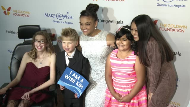 laurie hernandez at 4th annual wishing well winter gala presented by makeawish greater los angeles in los angeles ca - wishing well stock videos & royalty-free footage