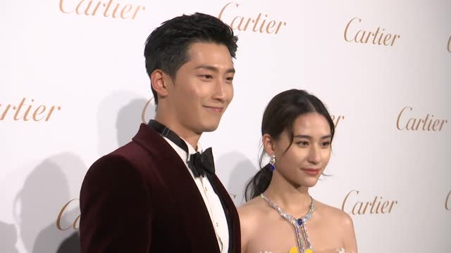 laurinda ho, daughter of hong kong-macao billionaire businessman stanley ho hung-sun, and her boyfriend actor shawn dou attend cartier event on... - boyfriend stock videos & royalty-free footage