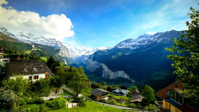 lauterbrunnen, switzerland - switzerland stock videos & royalty-free footage