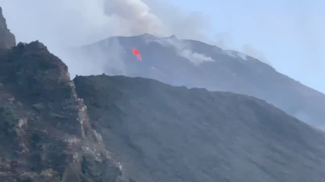lava and ash could be seen flowing from italy's mount stromboli on march 31 after the volcano in the tyrrhenian sea erupted. according to local... - 0 11 months stock videos & royalty-free footage