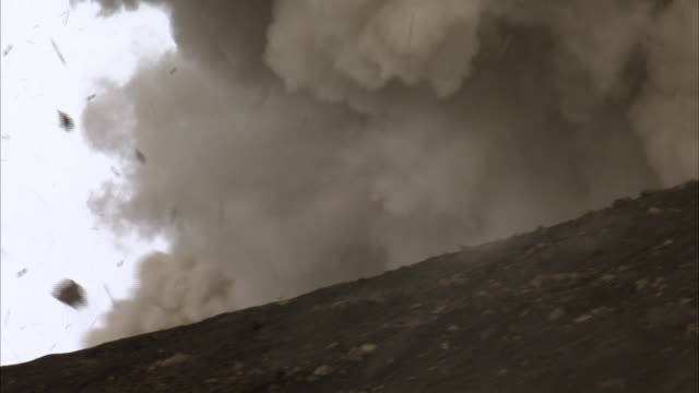 lava bombs and ash blast out from erupting volcano, new britain, png - bare tree stock videos & royalty-free footage