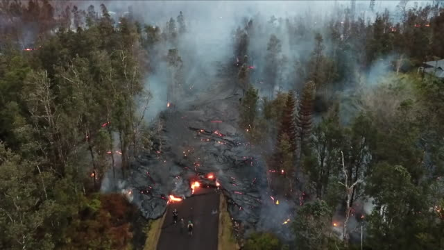lava devastation - accidents and disasters stock videos and b-roll footage