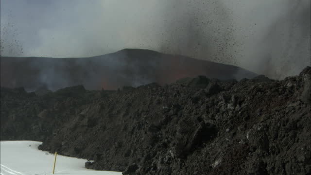 cu lava exploding out of volcano, eyjafjallajokull, iceland, april 2010 - 2010 stock videos and b-roll footage