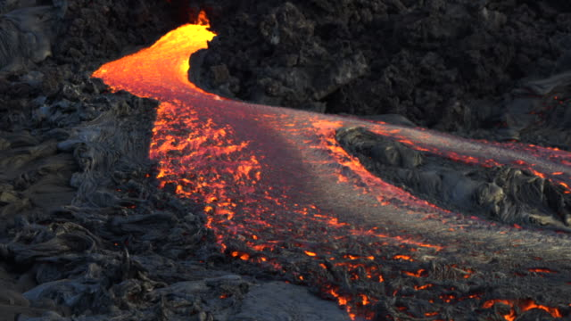 lava flows in hawaii - lava stock videos & royalty-free footage
