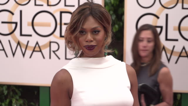 vídeos de stock, filmes e b-roll de laverne cox at 73rd annual golden globe awards - arrivals at the beverly hilton hotel on january 10, 2016 in beverly hills, california. 4k available... - the beverly hilton hotel