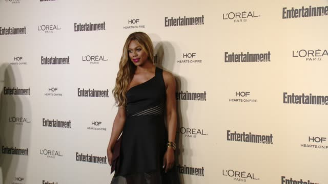 laverne cox at entertainment weekly's preemmy celebration at fig olive melrose place on september 18 2015 in west hollywood california - entertainment weekly stock videos and b-roll footage