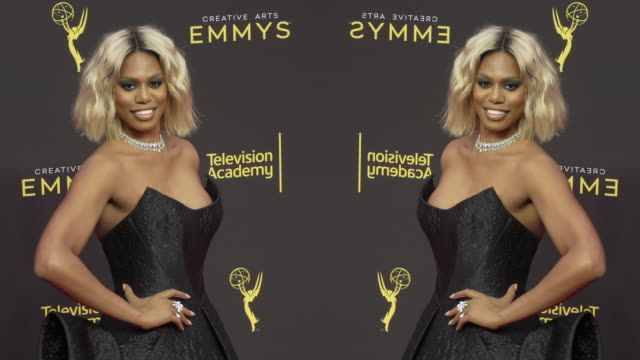 laverne cox at the 2019 creative arts emmy awards day 2 - arts culture and entertainment stock videos & royalty-free footage