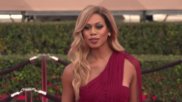 Laverne Cox at the 22nd Annual Screen Actors Guild Awards Arrivals at The Shrine Auditorium on January 30 2016 in Los Angeles California 4K
