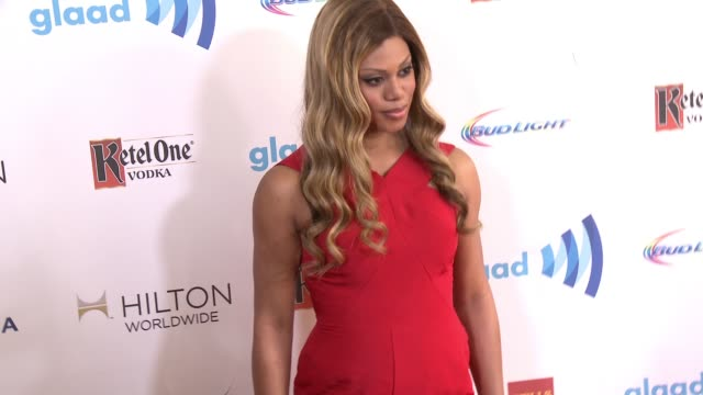 stockvideo's en b-roll-footage met laverne cox at the 25th annual glaad media awards at the beverly hilton hotel on april 12 2014 in beverly hills california - beverly hilton hotel