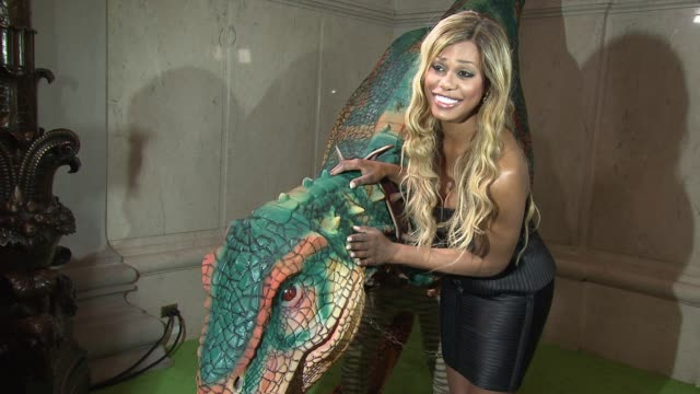 Laverne Cox at Uma Thurman Hosts The Launch of Dino Tales and Safari Tales at The American Museum of Natural History with Kuato Studios at American...