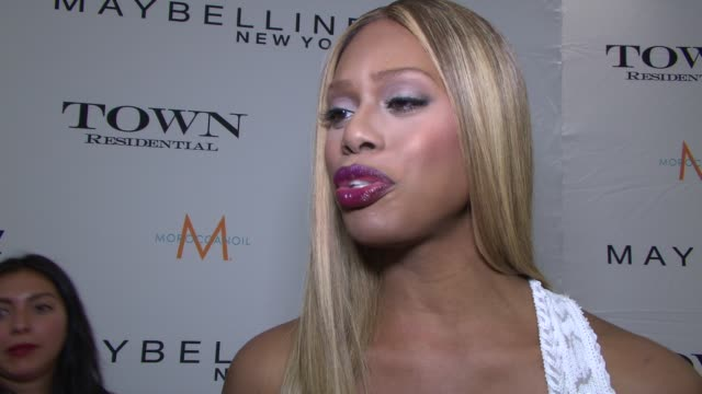 INTERVIEW Laverne Cox on how it feels to be honored by Maybelline and the fashion community on what she's wearing on Katie presenting her the award...