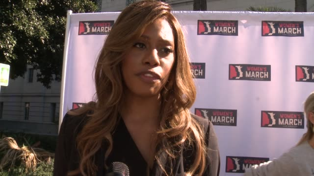 INTERVIEW Laverne Cox on why it was important for her to be here what she hopes people take away from the march and what she hopes to see change in...