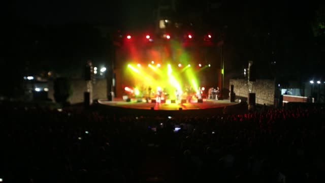 lavrentis macheristas and nikos portokaloglou greek singers performs at kipotheatro limassol in a concert of agios skepis 20 years anniversary on... - substance abuse stock videos & royalty-free footage