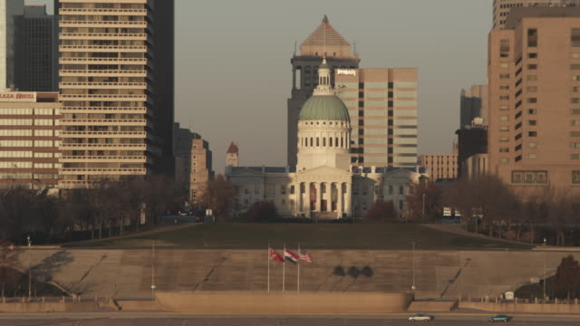 lawn area in front of a courthouse. - st. louis missouri stock videos and b-roll footage