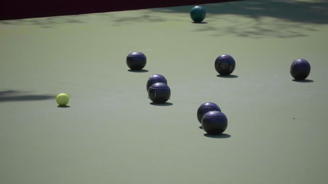 lawn bowling - wide shot - bowl stock videos & royalty-free footage