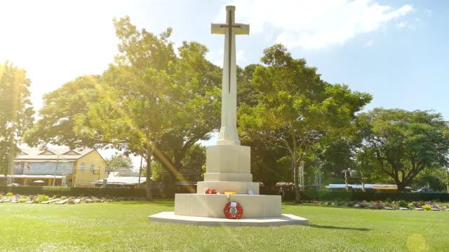 Lawn Cross in Church