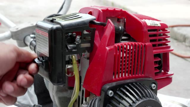 lawn mower engine - repairing stock videos & royalty-free footage