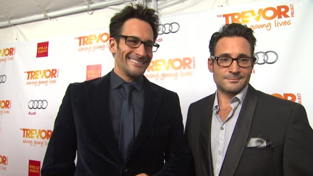 lawrence gregory zarian on why they support the trevor project what they are most looking forward to and why katy perry is deserving of the trevor... - the trevor project stock videos and b-roll footage