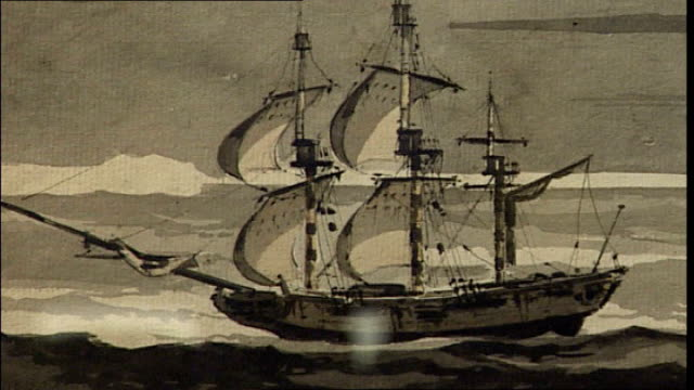 lawrence of arabia artefacts to be auctioned painting of ship 'resolution' in which captain cook almost discovered antarctica book of navigation... - arabia video stock e b–roll