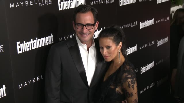 lawrence zarian and jennifer dorogi at 2016 entertainment weekly screen actors guild party at chateau marmont on january 29 2016 in los angeles... - entertainment weekly stock-videos und b-roll-filmmaterial