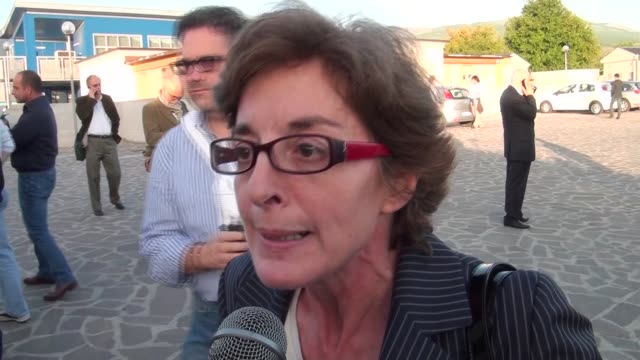 lawyer alessandra stefano during the big risk trial in l'aquila italy on october 22 2012 after thirty hearings the judge of l'aquila marco billi has... - legal trial stock videos & royalty-free footage