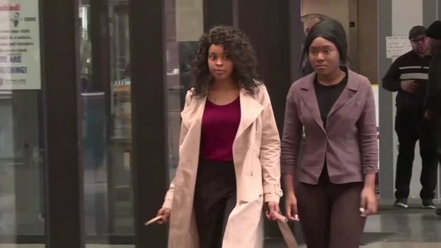 lawyer and alleged victims arrive at court to attend the bond hearing of rb star r kelly a day after the singer was charged with 10 counts of sexual... - court hearing stock videos and b-roll footage