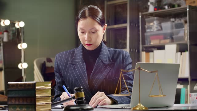 lgbtqia+ lawyer is transgender woman who can study cases and work hard - lawyer stock videos & royalty-free footage