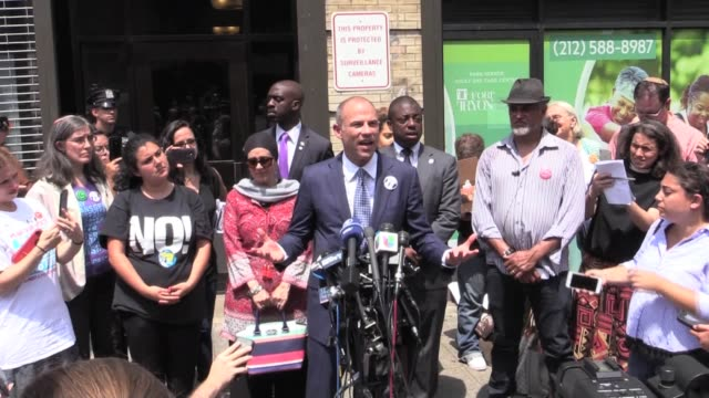 lawyer michael avenatti visits cayuga center in east harlem to visit his clients, two daughters of a honduran father hector tejeda santos, separated... - foster care stock videos & royalty-free footage