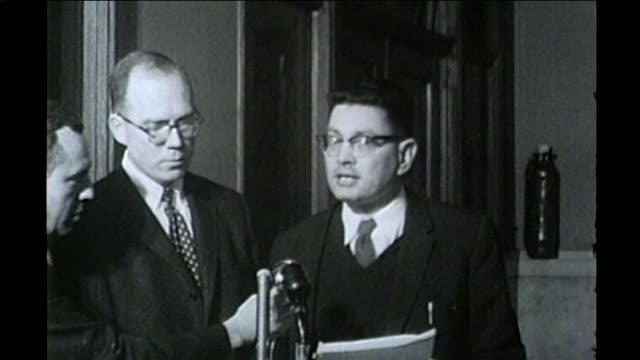 Lawyers discuss civil rights housing lawsuit Progress Development Corporation v Mitchell in Deerfield Illinois in 1960